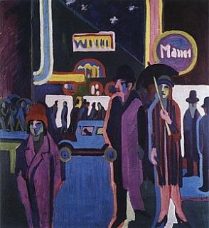 Kirchner scena notturna in strada 1927