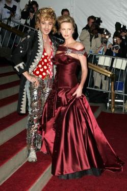 Charlize Theron (in Galliano) and John Galliano @ Met Costume Gala 2006