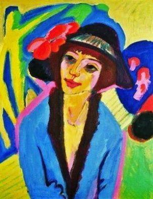 Kirchner Ritratto di Gerda 1914
