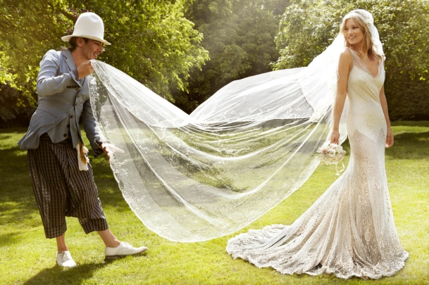 Kate Moss wedding dress 2011