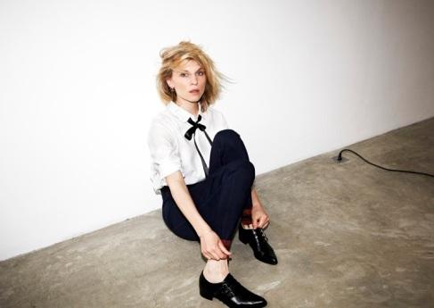 Le-Fashion-Blog-Clemence-Poesy-Madame-Figaro-Ribbon-Neck-Tie-Monk-Strap-Shoes